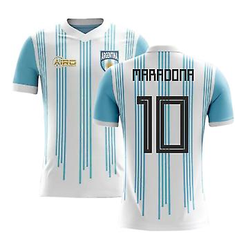 2020-2021 Argentine Home Concept Football Shirt (Maradona 10)