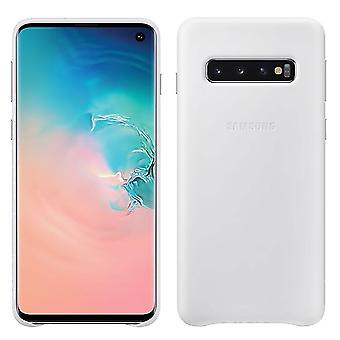 Samsung leather cover for Samsung Galaxy S10 G973 EF VG973LWEGWW white bag case protective cover