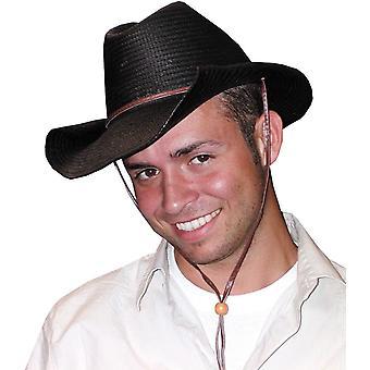 Cowboy hoed gerold zwart voor iedereen