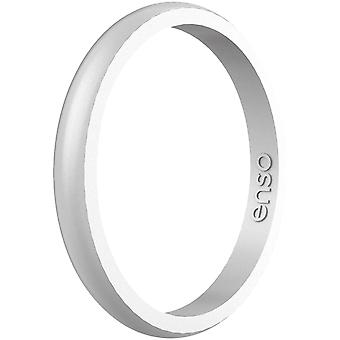 Enso Rings Halo Elements Series Silicone Ring - Silver