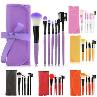 7pcs Make-up Pinsel, professionelle Make-up-Set mit Fall
