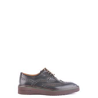 Cuir Crown Ezbc111012 Chaussures à lacets en cuir vert