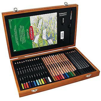 Derwent Academy Pencils Wooden Box 35pc Set•