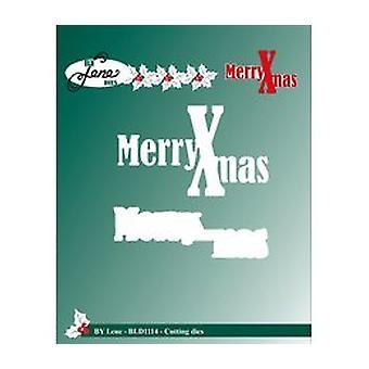 Par Lene Cutting & Embosser dies Merry Xmas