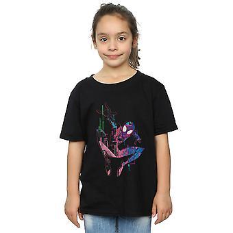 Marvel Girls Spider-man in de Spider-vers City kleur T-shirt