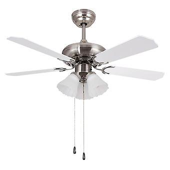 """Ceiling fan Skua 132cm / 52"""" Nickel with lights"""