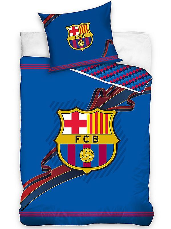 FC Barcelona Ribbon Single Cotton Duvet Cover Set