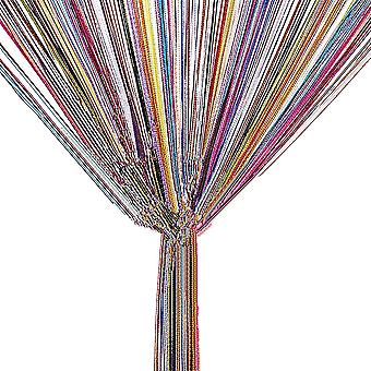 TRIXES String Dew Drop String Curtain - Glitter Tassel – Multicoloured - Door or Window Panel 90 x 200cm