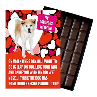 Akita Inu Gift for Valentines Day Presents For Dog Lovers Funny Boxed Chocolate