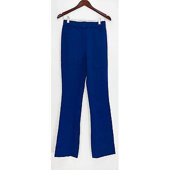 Isaac Mizrahi Live! Kvinder ' s bukser 0T høj 24/7 stretch støvle skåret blå A279255