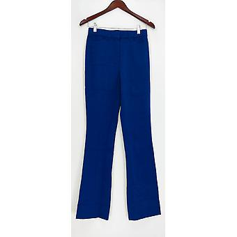 Isaac Mizrahi Live! Donne's Pantaloni 0T Tall 24/7 Stretch Boot Cut Blue A279255