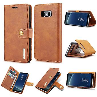 Dg. MING Samsung Galaxy S8 Plus Split leather wallet Case-brown