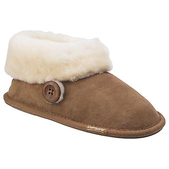 Cotswold Womens Wotton Sheepskin Bootie Chesnutt
