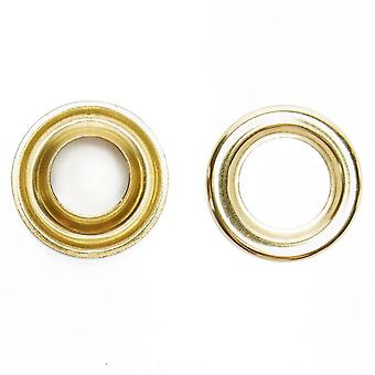 New W4 Brass Eyelets 10 Pack Brown