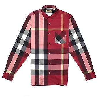 Burberry Check Shirt Parade Rouge