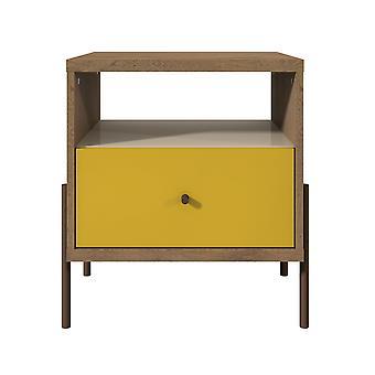 Manhattan comfort  joy 1-full extension drawer nightstand in yellow