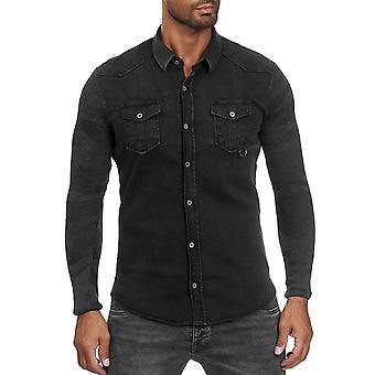 Les Jeans chemise homme-apos;s Look Chemise à manches longues Veste de transition À motifs décontractés