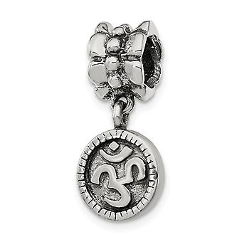 925 Sterling Silver Reflections Om Symbol Dangle Bead Charm Pendant Necklace Jewelry Gifts for Women