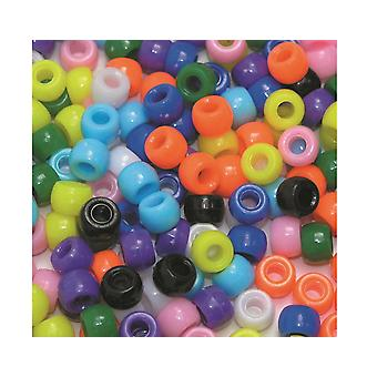 Assorted Bright Pony Beads for Kids Crafts - 1000pk