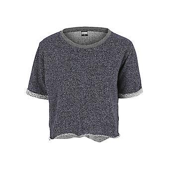 Urban Classics Damen T-Shirt Melange Cropped Short Sleeve