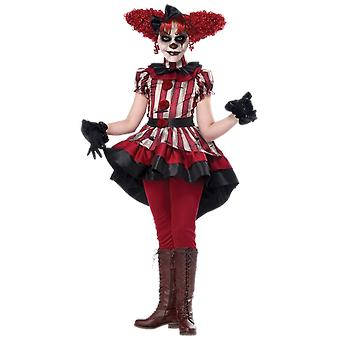 Girls Age 8 - 14 Years Scary Clown Halloween Costume