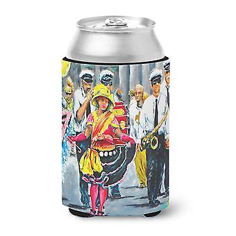 Mardi Gras Dancin' in Street Can o Bottle Hugger