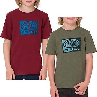 Animal Boys Thoron grafico petto stampa corto maniche equipaggio collo Tee Top T-shirt