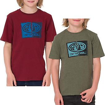 Animal Boys Thoron Graphic Chest Print Short Sleeve Crew Neck Tee Top T-shirt