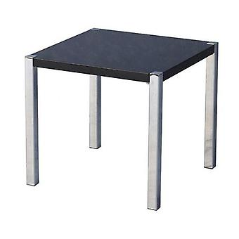 Charisma Lamp Table - Black Gloss/chrome