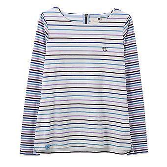 Lighthouse Causeway Ladies Top Purple/Blue Stripe