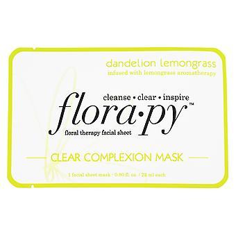 Florapy Floral therapie Facial blad duidelijk teint masker paardebloem citroengras