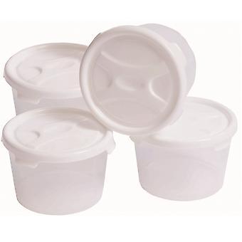 Wham opslag set van 4-300ml plastic handige baby voedsel potten