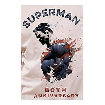 Superman Unisex Adults 80th Anniversary T-shirt