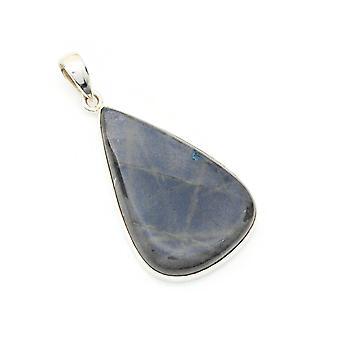 Labradorite vedhæng 925 sølv sterling sølv kæde vedhæng Locket (082-05)