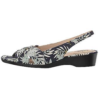 LifeStride Women's Mimosa 2 Flat Sandal Navy Multi 8 N US