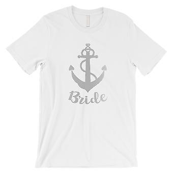 Bruden Anchor-SILVER menns hvit T-skjorte sjarmerende vittig design gave