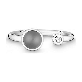 QUINN - Ring - Silver - Gemstone - Moonstone - Wess. (H) - Width 56 - 21191650