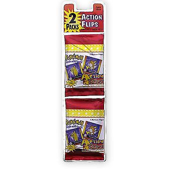 Pokémon Action Flipz Series 2 8 wobble pictures colorful, made of paper, plastic, blind pack, 2 packs of 4 images each.