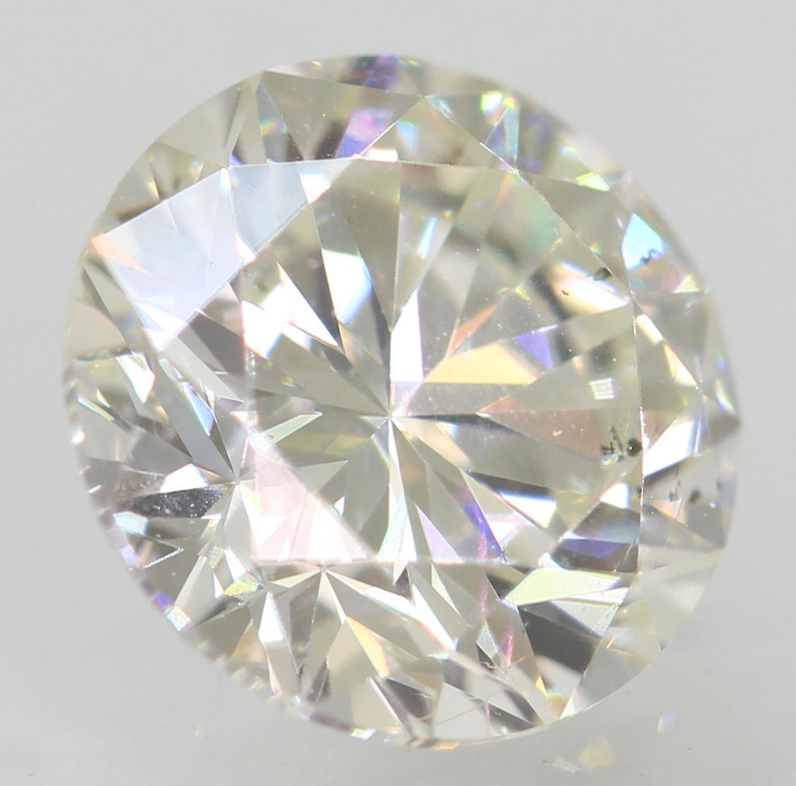 Certified 1.04 Carat G VVS2 Round Brilliant Enhanced Natural Loose Diamond 6.49m