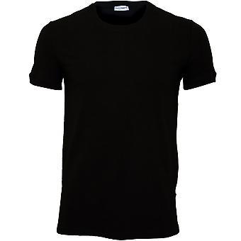 דולצ ' ה & גבאנה טהור כותנה הצוואר העגול-חולצת גירוקוללו טריקו, שחור