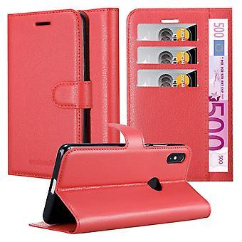 Cadorabo kotelo Xiaomi RedMi HUOMAUTUS 5 tapauksessa tapauksessa kansi - Puhelinkotelo magneettilukko, seistä toiminto ja korttiosasto - asia kattaa suojakotelo kirja taitto tyyli