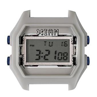 Watch I Am The Watch IAM-011 - Light Grey Appearance Gum Blue Buttons / Horn 18 mm Set