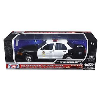 2001 Ford Crown Victoria Los Angeles Police Department LAPD Auto 1/18 Diecast Auto Modell von Motormax