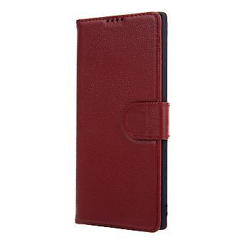 Für Samsung Galaxy Note 10 + Plus Fall rot Rindsleder echtes Leder Brieftasche Abdeckung