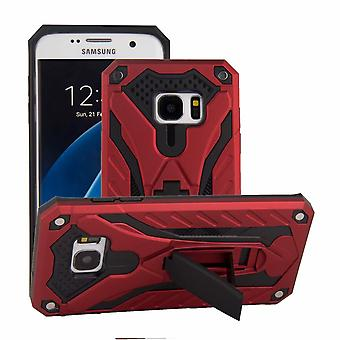 For Samsung Galaxy S7 EDGE Case, Armour Strong Shockproof Cover Kickstand, Red