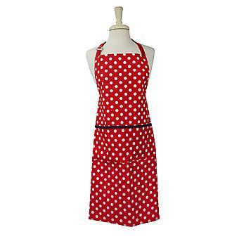 Dexam Polka Adult Apron, Red