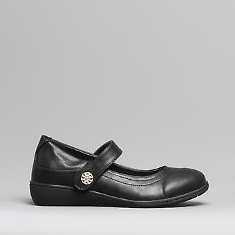 Dr Keller Canvey Ladies Mary Jane Shoes Black