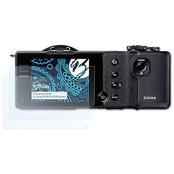 Bruni 2x Película Protectora compatible con Sigma DP0/DP1/DP2/DP3 Quattro Lámina Protectora