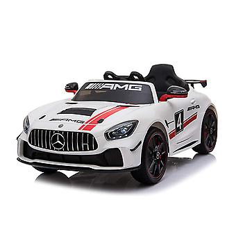 Licensed Mercedes Benz GT4 AMG Sports Edition 12V Electric Ride on Car White