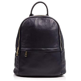 FIRENZE ARTEGIANI Backpack bag casual real leather woman. Genuine leather backpack Dollar. Soft touch. Women's backpack Made in ITALY. REAL ITALIAN PELLE 42x40x16 cm. Color: BLU DARK
